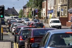 Traffic congestion, Gateshead, UK