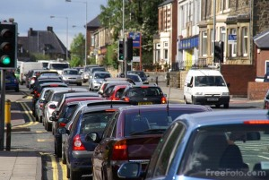 Traffic congestion, Gateshead, UK