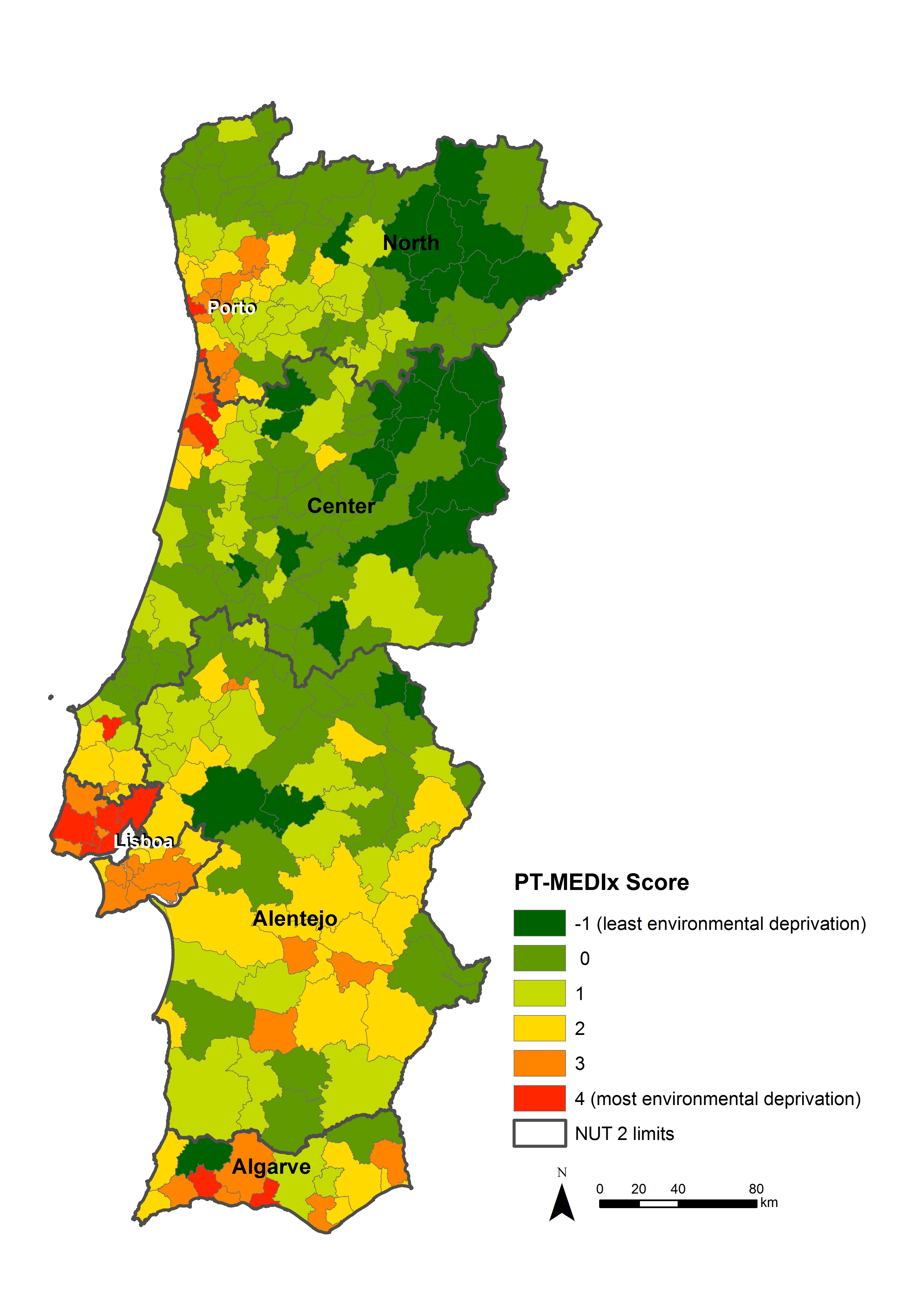 PTMEDIx CRESH - Portugal map physical