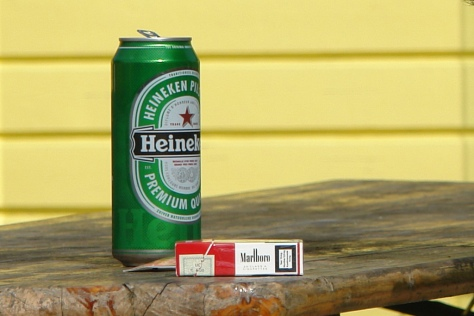 CIgarettes and Alcohol. By CharlesFred, Flickr. Creative Commons Licence.